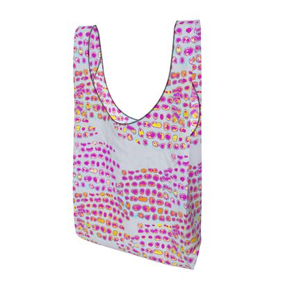 Textural Collection in grey and magenta Parachute Shopping Bag