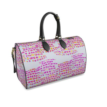 Textural Collection in grey and magenta Duffle Bag