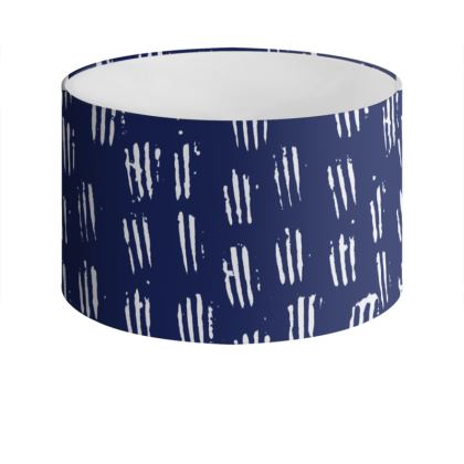Make Your Mark Drum Lamp Shade in Denim Blue