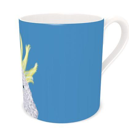 Cockatoo Parrot Sky Blue Coffee Mug