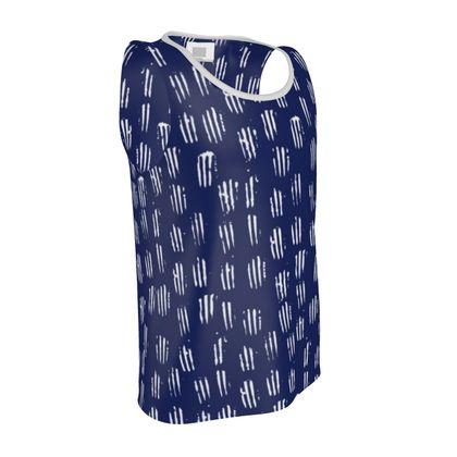 Make Your Mark Vest in Denim Blue