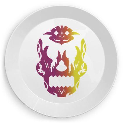 Multicoloured Sugar Skull Party Plates