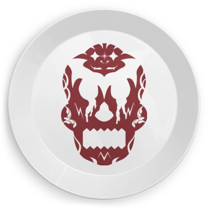 Blood Red Sugar Skull Party Plates