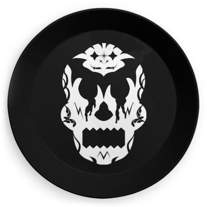 White Sugar Skull Party Plates