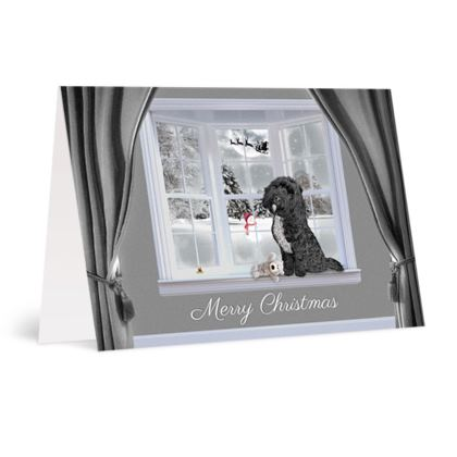 Black tuxedo christmas card