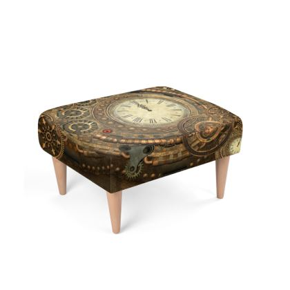 Clockwork, wonderful steampunk design Footstool
