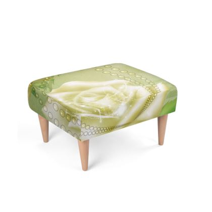Beautiful roses in soft colors Footstool