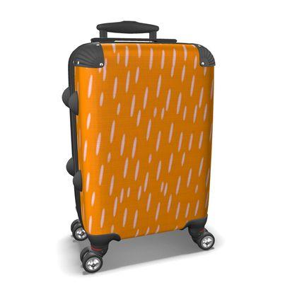 Raining Opportunities Suitcase in Orange