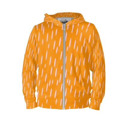 Raining Opportunities Hoodie in Orange