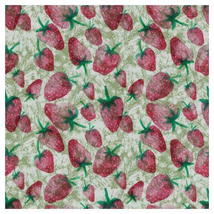 Dark Strawberry Print Cushion