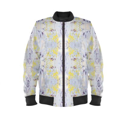 Grey Butterfly Ladies Bomber Jacket