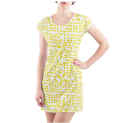 Spot On Yellow Ladies Tunic T Shirt