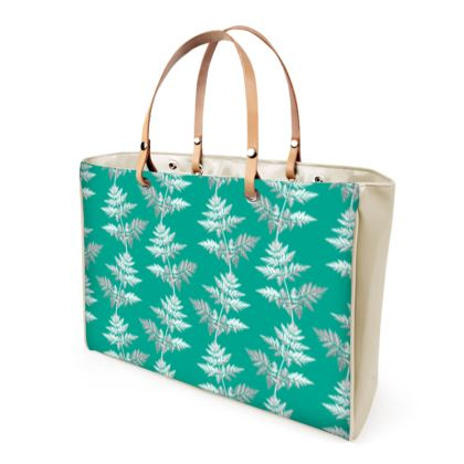 Forest Fern Handbag in Jade Green