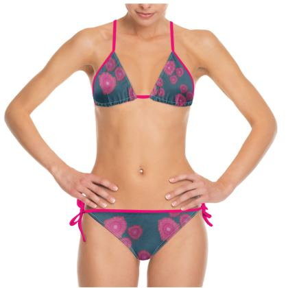Magenta Floral Bikini