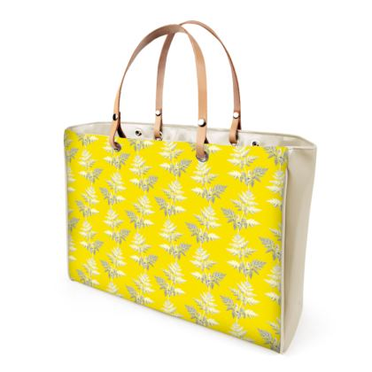 Forest Fern Handbag in Bright Yellow