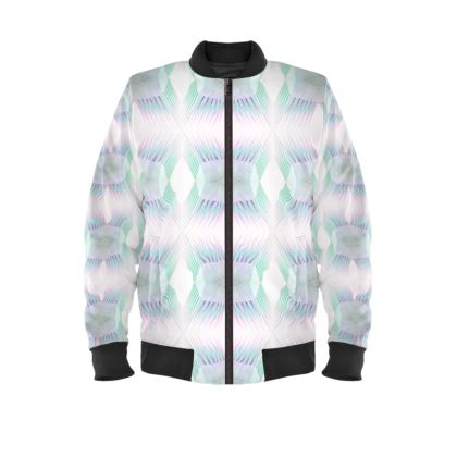 Spiky Ladies Bomber Jacket in Dream Blue