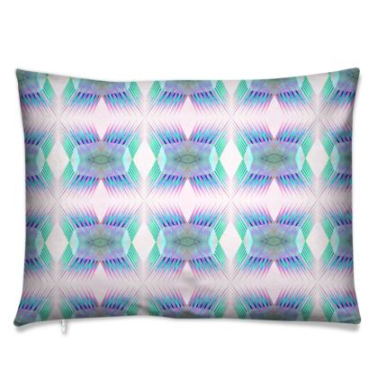 Spiky Cushion in Neon Blue