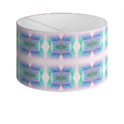 Spiky Drum Lamp Shade in Neon Blue