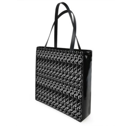 No Comment Shopper Bag in Black
