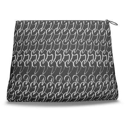 No Comment Clutch Bag in Black
