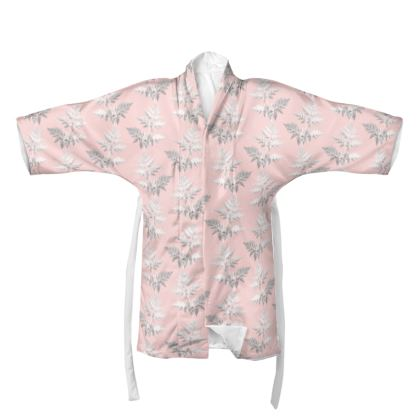 Forest Fern Kimono in Pale Pink