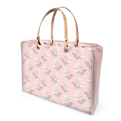 Forest Fern Handbag in Pale Pink