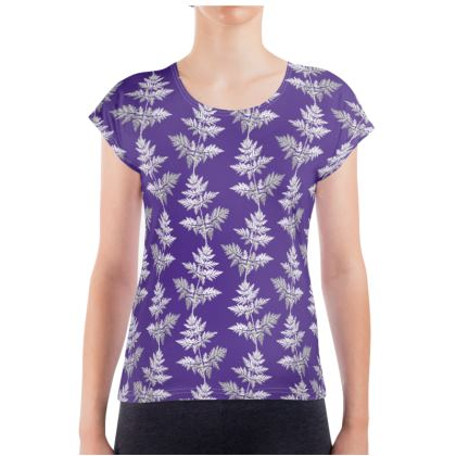 Forest Fern Ladies T Shirt in Royal Blue