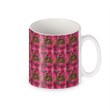 Botanical print builders mug