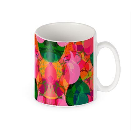 Colourful teardrop print builders mug