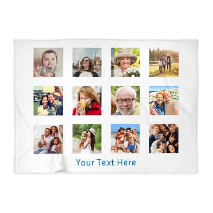 Photo Gird Memory Blanket