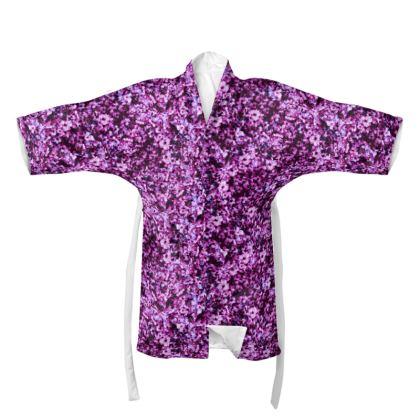 Dark pink floral Kimono
