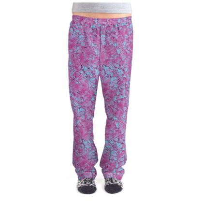 Outlined Floral Pajama Bottoms