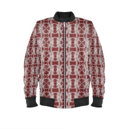 Red Gaudi Bomber Jacket