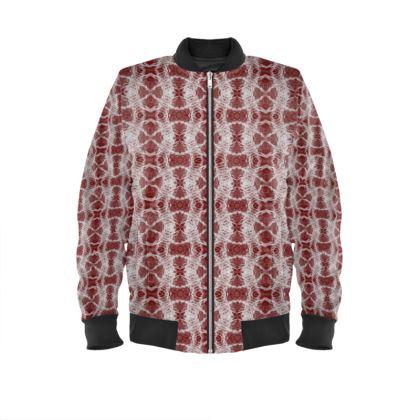 Red Gaudi Bomber Jacket