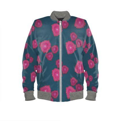Magenta Floral  Bomber Jacket