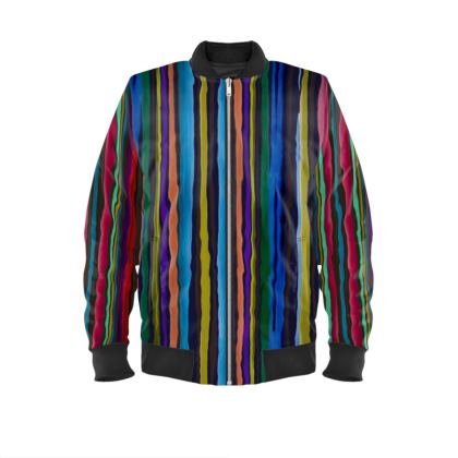 Striped Ladies Bomber Jacket