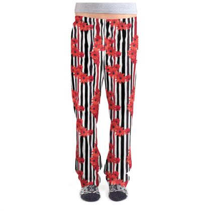 Abstract Floral Pajama Bottoms
