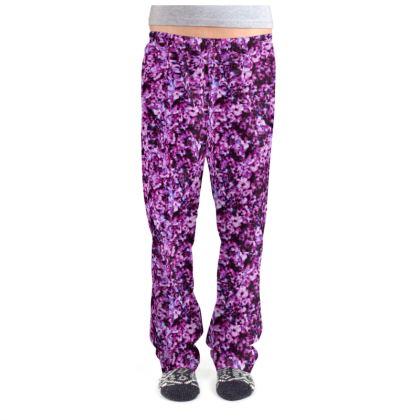 Dark pink floral Pajama Bottoms
