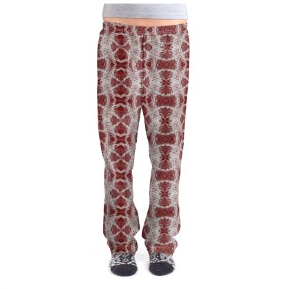 Red Gaudi Pajama Bottoms