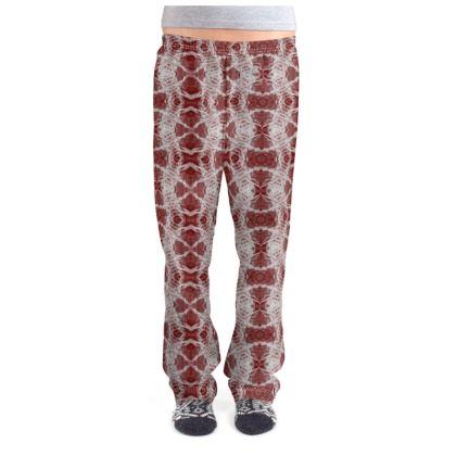 Red Gaudi Pajama Bottoms