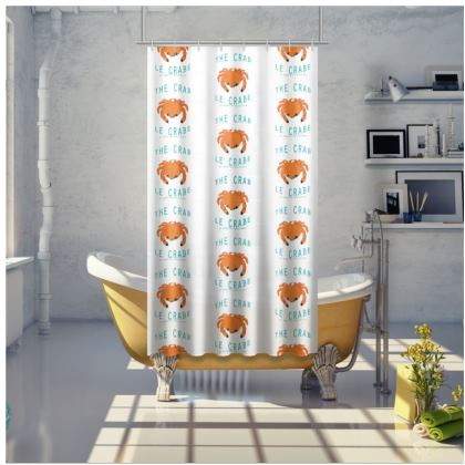 "Shower Curtain ""Le Crabe"""