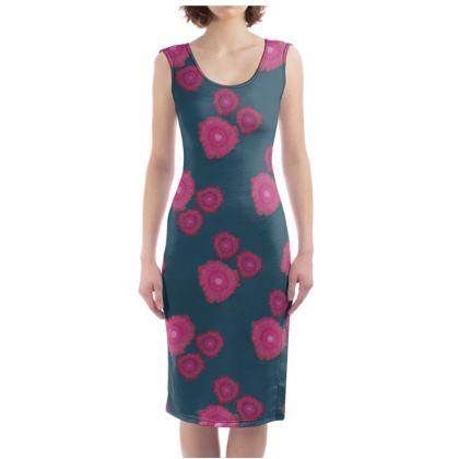 Magenta Floral Dress