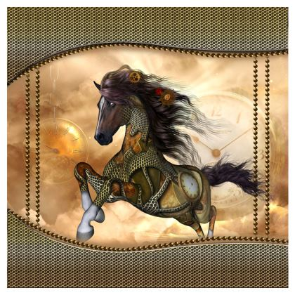 Awesome running  steampunk horse Double Deckchair