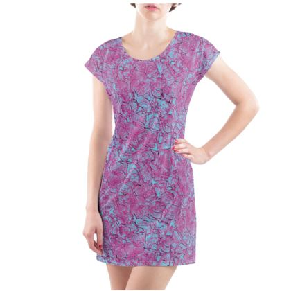 Outlined Floral Tunic T-shirt