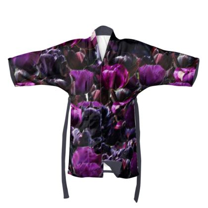 Tulip Printed Kimono