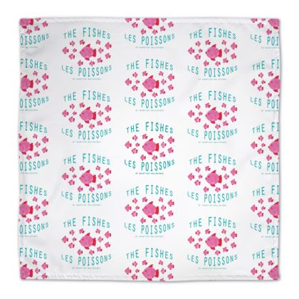 "Napkin ""Les Poissons"" small pattern"