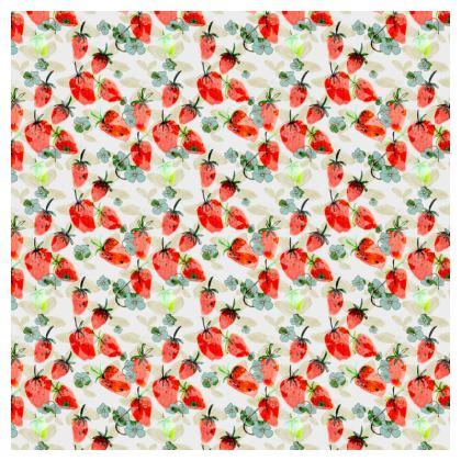 'Strawberry Field' Print Cushion