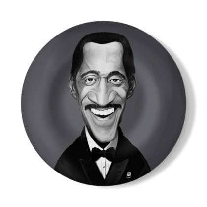 Sammy Davis Jnr Celebrity Caricature Decorative Plate