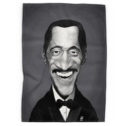 Sammy Davis Jnr Celebrity Caricature Tea Towels