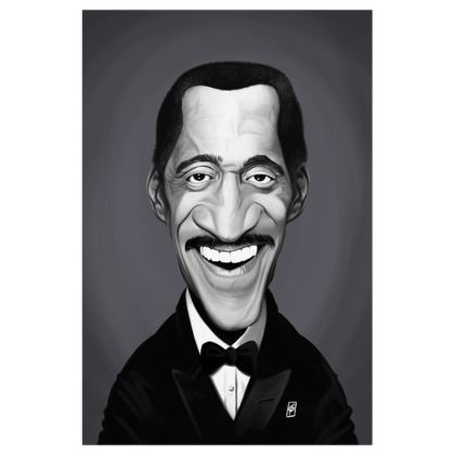 Sammy Davis Jnr Celebrity Caricature Art Print